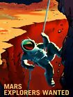 Mars Mission Poster PHOTO Explorers Wanted Mars Exploration NASA Space Jobs