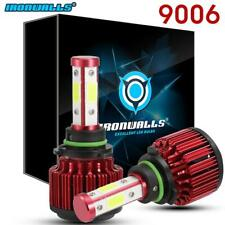 4 Side 9006 HB4 1500W 225000LM CREE LED Headlight Conversion Bulb 6000K HID Pair
