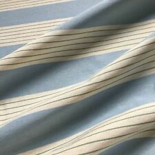 "Light Blue Coastal Stripe Upholstery Fabric by the Yard - 57"""
