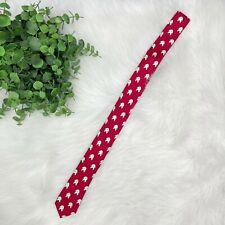 "NEW CREWCUTS Necktie Tie Boy's 42"" Red & White Yeti Print 100% Silk J. Crew NWT"