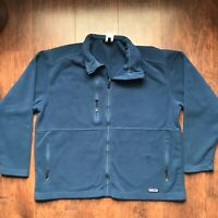 Patagonia Men's XXL Synchilla Full Zip Fleece Jacket Navy Blue