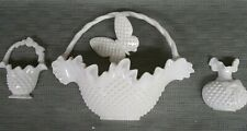 Vintage Homco ,Burwood wall plaques basket base and butterflies