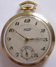 VERY RARE-TISSOT-SWISS POCKET WATCH GOLD PLATED