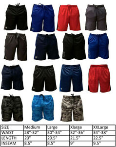 Mens New Under Armour Athletic Gym Muscle Logo Mesh Basketball Shorts M-2XL