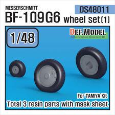DEF. Model, DS48011, Messerschmitt Bf-109G6 Wheel Set (1), 1:48