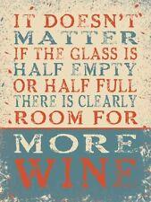 ES Doesn't Matter If the Glas mehr Wein lustige Kühlschrankmagnet (oG)