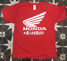 HONDA RACING Official #RIDERED Motorcycle Powersports Men's T-Shirt Size Large