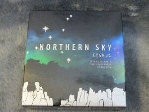 2016 Australia Silver $5 Color Domed Northern Sky Cygnus with Box & COA
