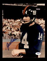 YA Tittle PSA DNA Coa Hand Signed 8x10 Giants Autograph Photo