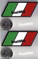 2-PACK - ITALIAN FLAG RACING EURO BADGE EMBLEMS -  FREE SHIP