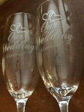 Carnival Champagne Flutes Two Hearts Our Wedding Wine Glasses Gift Set of 2