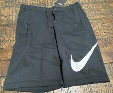 Nike Sportswear Club Fleece Sweat Shorts Size Medium Black White 843520-010 NEW