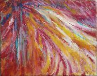"""Tableau abstrait sur toile Peinture mixte Original signé HZEN, """"SOIRS D'ÉTÉ"""""""