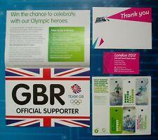OLYMPIC GAMES - 6 Key Fobs - Team GB Sticker - Thank You Card etc - London 2012