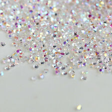 White AB Crystal Clear 1.3mm Micro Zircon Mini Nail Art Rhinestones Decoration
