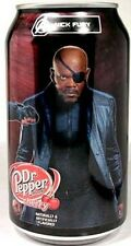 "FULL NEW 12oz Dr. Pepper Cherry Limited Edition ""Avengers Nick Fury"" USA 2012"