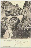 CPA 06 Alpes-Maritimes Menton Pont Saint-Louis