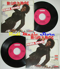 LP 45 7'' GLORIA GAYNOR My love is music If i need 1985 italy CARRERE cd mc dvd*