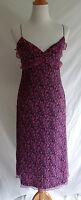 Laundry by Shelli Segal 8 Silk Chiffon Crinkle Victorian Flower Slip Party Dress