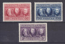 Monaco Sc 100-102 MNH. 1928 International PHILEX, cplt set