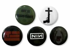 "NINE INCH NAILS - ""ART IS RESISTANCE"" FIVE PIN BUTTON GIFT SET PACK NIN - NEW"