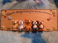 3d Teddy Collector Plaque Sign There's always room for 1 more bear personalised