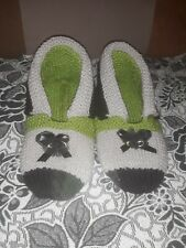 Ladies hand knitted booties/slippers,size 7.