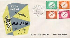 Indonesia #502-505 WHO Malaria Eradication FDC