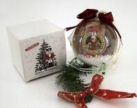Weihnachtsschneekugel Hänger mit 2 verschiedenen weihnchtlichen Motiven Ø 10 cm