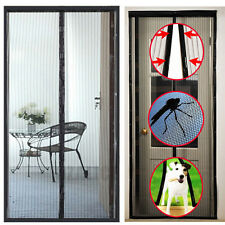 Mosquito Insect Net Mesh Guard for Door Fly Screen Curtain Bug Magnetic Handfree