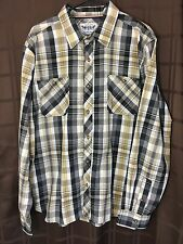 Levis Stauss & Company Two Horse Brand Men's Shirt Size XL Plaid Levi's