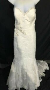 Allure - style nbr 2501 - size 16 - Ivory/silver - original price $1,360