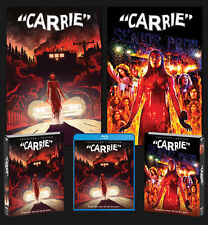 CARRIE horror DELUXE LIMITED EDITION BLU-RAY Posters Slipcover SCREAM FACTORY