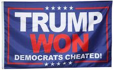 Donald Trump Flag Trump Won Dem Cheated 3x5ft banner Us Shipper
