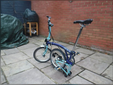 Brompton S2L 2014, rare blue/dark blue, great condition. Global shipping.