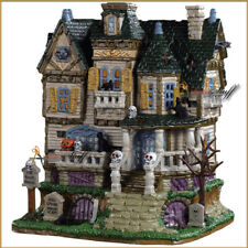 NEW 2019 Lemax Spooky Town The Haunted Knoll Porcelain Lighted House