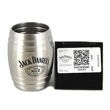 Jack Daniel's Whiskey Barrel Shot Glass 2oz, Stainless Steel