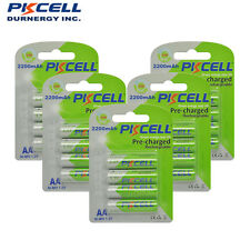 PKCELL 20pcs/ 5cards 2200mAh Low Self-Discharge Battery NIMH AA Rechargeable
