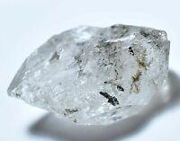 35.85 Ct Rare Herkimer Diamond Water Clear Quartz Crystal Anthraxolite Rough
