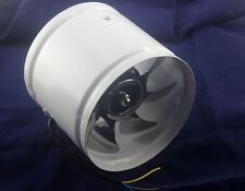 """NEW 6"""" Inline Duct Fan Booster Exhaust Blower Air Cooling Vent Metal Blade"""