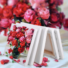 5pcs Square Stretched Blank Canvas Art Board Acrylic Oil Paint Craft 15x15cm