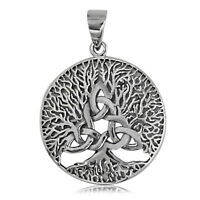 925 solid Sterling Silver Celtic Trinity Tree of Life pendant