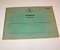 Teile Katalog / Teile-Liste Mercedes Unimog Dieselmotor OM 621 - Ausgabe 1966