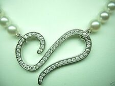 DIAMOND & PEARL NECKLACE 1.57CT 18KT WHITE GOLD