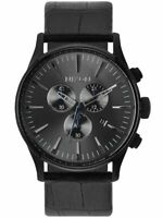 Nixon Sentry Chronograph Watch - Black Leather - A405-1886 / A405-1886-00