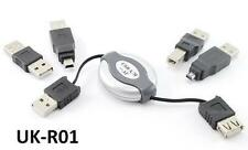 5-in-1 Travel USB Retractable Computer Cable Adapter Kit , CablesOnline UK-R01