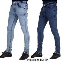 Hommes Extensible Skinny Jean,Georgio Peviani Super Slim Fit G Barre Jeans Rock
