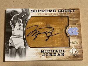 Michael Jordan 2010 #4/5 SP Authentic Upper Deck Floor Patch On Card Auto UNC