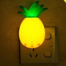 LED Night Lamp Switch Pineapple Fruit Cartoon Series Light 1W ABS US Adapter HOT