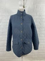Duluth Trading Co Women's Cortland Quilted Insulated Barn Coat Jacket Large Blue